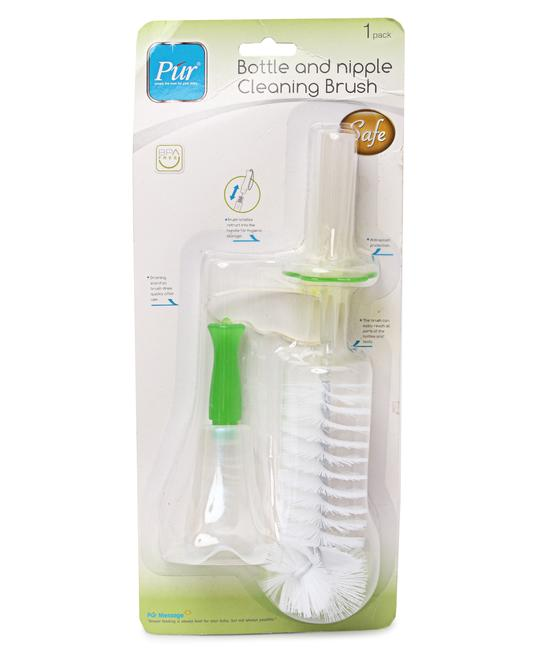 Bottle and Nipple Cleaning Brush - White