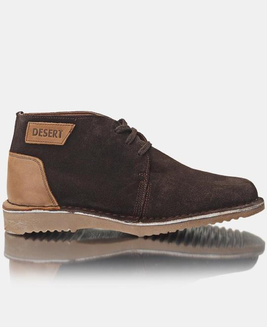DESERT Mens Leather Boots - Brown