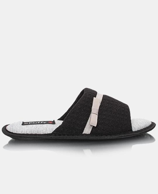 FLUFFY Bedroom Slippers - Black