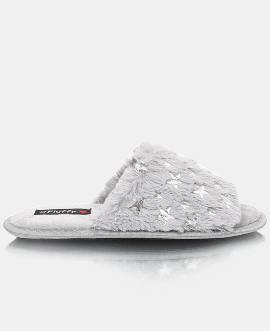 FLUFFY Bedroom Slippers - Grey