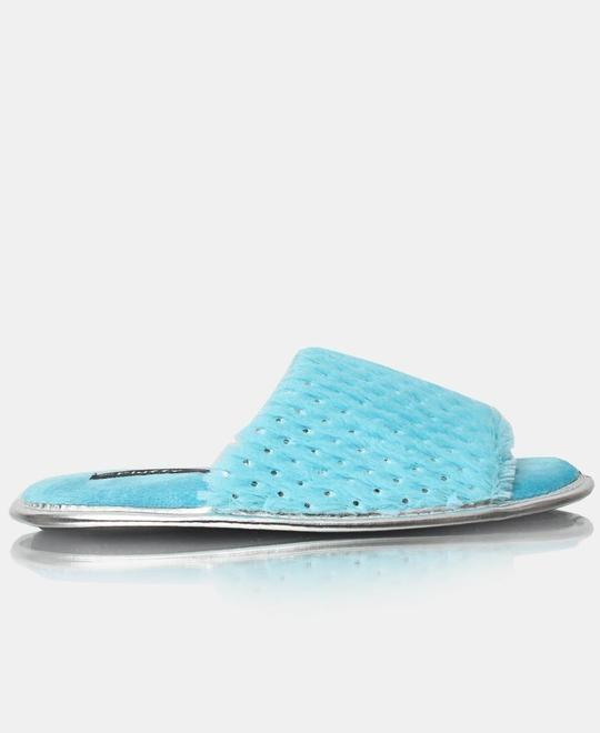 FLUFFY Bedroom Slippers - Turquoise