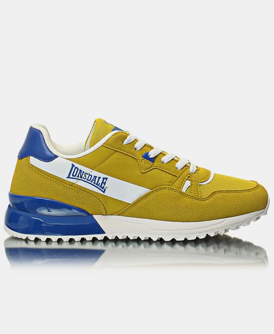 LONSDALE LONDON Mens Deluxe Sneakers - Mustard