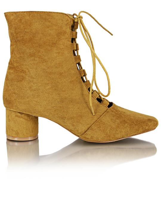 SEDUCTION Ankle Boots - Mustard