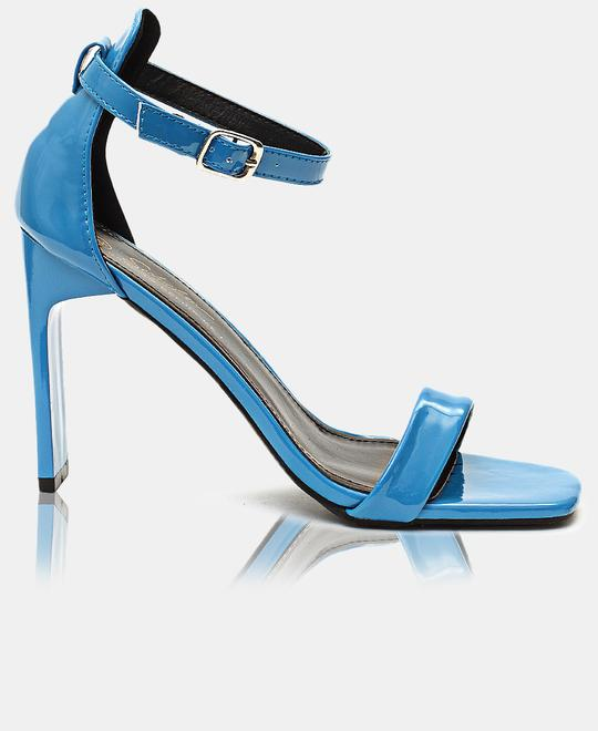 SEDUCTION Ankle Strap Heels - Blue