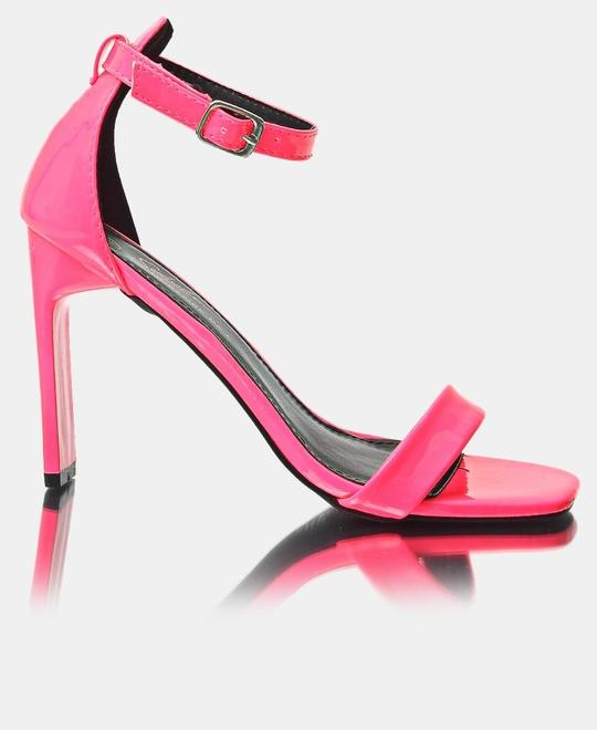 SEDUCTION Ankle Strap Heels - Pink