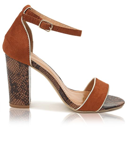SEDUCTION Block Heels - Tan