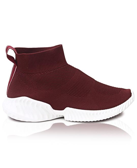 TOMTOM Mens Leap Boot Sneakers - Burgundy