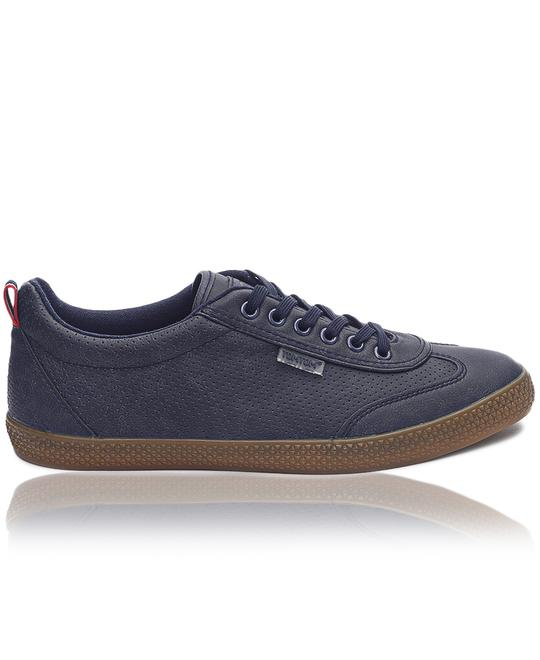 TOMTOM Mens Light Wing Punch Sneakers - Navy