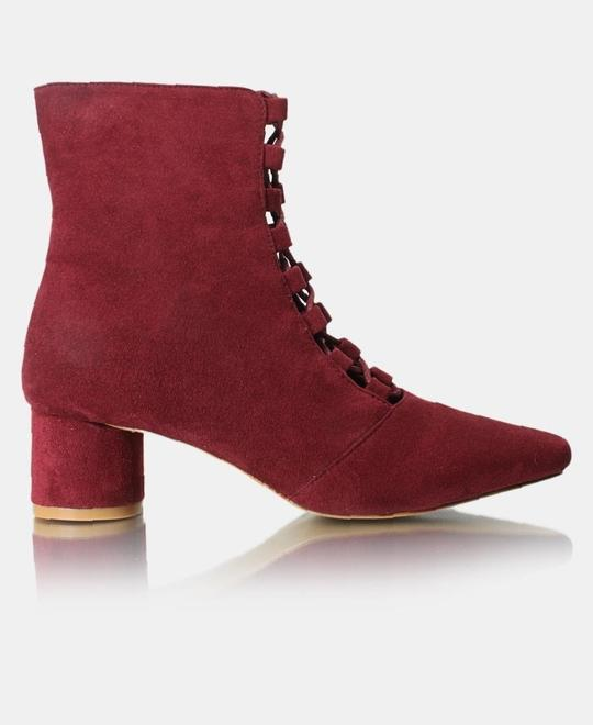 SEDUCTION Ankle Boots - Burgundy