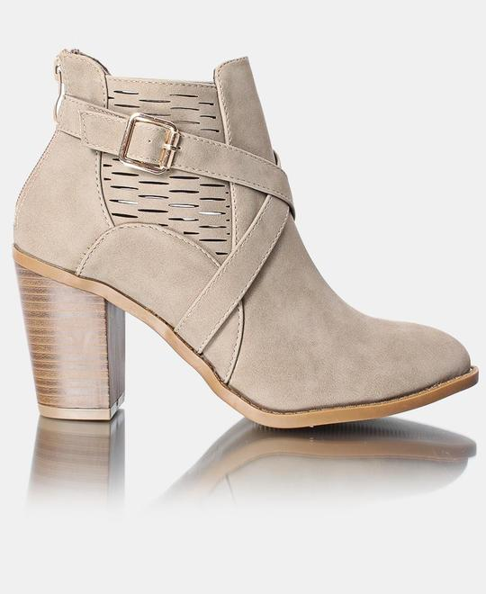 SEDUCTION Ladies Ankle Boot - Beige