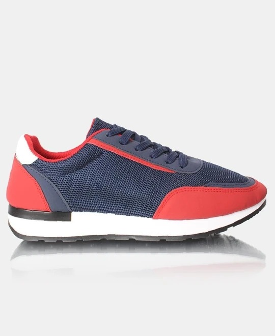TOMTOM Mens Storm Sneakers - Navy-Red
