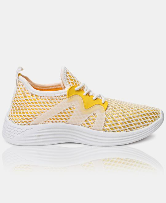 URBAN KULTURE Ladies Casual Sneakers - Yellow