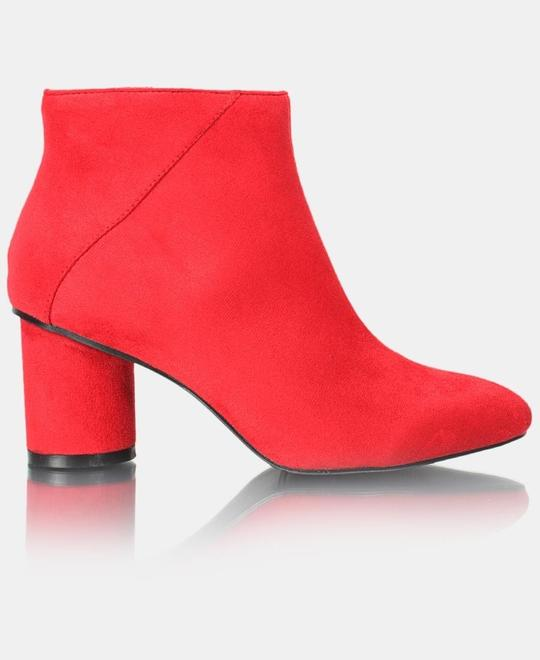 URBAN-STYLE-Ladies-Ankle-Boot-Red